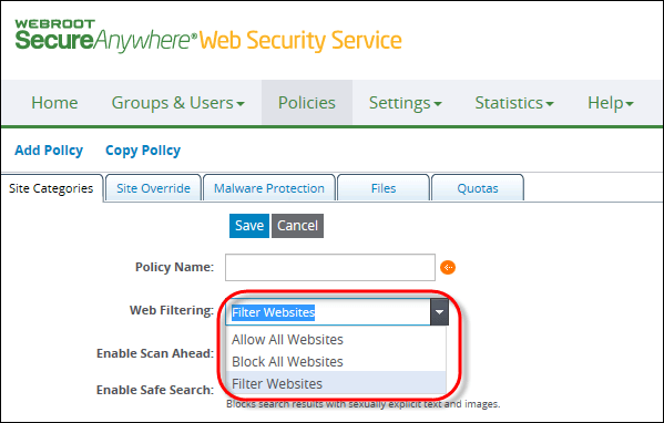 Windstream Domain Services | Webroot WSS Admin Guide